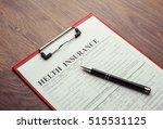 helth insurance document | Shutterstock . vector #515531125
