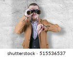 stylish young man with... | Shutterstock . vector #515536537
