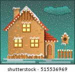 Winter Scene. Snowy House ...