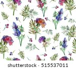 vintage floral seamless pattern ... | Shutterstock . vector #515537011