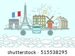 travel to paris concept.... | Shutterstock .eps vector #515538295