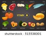 set of healthy fruit ... | Shutterstock .eps vector #515538301