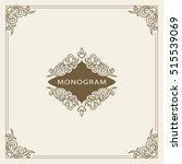 vintage ornament greeting card... | Shutterstock .eps vector #515539069
