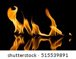 fire flames on black background | Shutterstock . vector #515539891