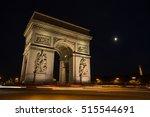 triumphal arch. paris. france.... | Shutterstock . vector #515544691