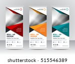 roll up banner stand template... | Shutterstock .eps vector #515546389