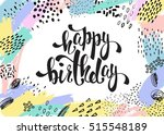 creative universal card with... | Shutterstock .eps vector #515548189