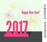 creative happy new year 2017... | Shutterstock .eps vector #515550874