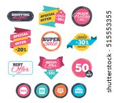 sale stickers  online shopping. ... | Shutterstock .eps vector #515553355