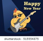 Vector New Year Card. Young...