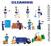 cleaning. industrial cleaning... | Shutterstock .eps vector #515555029
