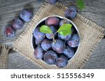 Plums In A Metal Bucket  A...
