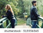 portrait of young couple being... | Shutterstock . vector #515556565