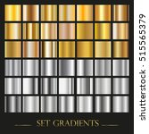vector set of gold and silver... | Shutterstock .eps vector #515565379