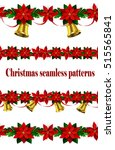 set of n seamless christmas... | Shutterstock .eps vector #515565841