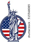 statue of liberty. new york and ... | Shutterstock .eps vector #515568085