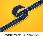 road loop isometric view.... | Shutterstock .eps vector #515569864