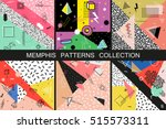 collection of vector abstract... | Shutterstock .eps vector #515573311