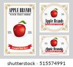 apple liquor retro style label   | Shutterstock .eps vector #515574991