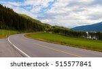 norwegian highway car road in... | Shutterstock . vector #515577841