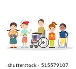 special needs children with... | Shutterstock .eps vector #515579107