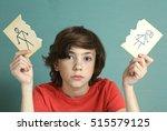sad preteen boy unhappy about... | Shutterstock . vector #515579125