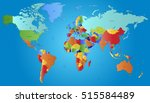 world map countries. world map... | Shutterstock .eps vector #515584489