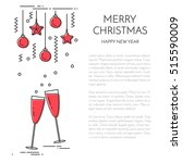 christmas vertical banner with... | Shutterstock .eps vector #515590009