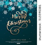 christmas snowflakes on blue... | Shutterstock .eps vector #515590381