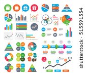 business charts. growth graph.... | Shutterstock .eps vector #515591554