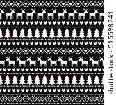 christmas seamless pattern on... | Shutterstock .eps vector #515598241
