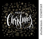 vector christmas card with... | Shutterstock .eps vector #515605165
