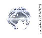 white dotted globe glass... | Shutterstock .eps vector #515608879