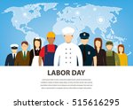 people of different occupations.... | Shutterstock .eps vector #515616295