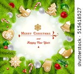 christmas background with... | Shutterstock .eps vector #515618527
