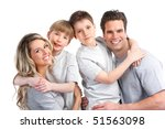 happy family. father  mother... | Shutterstock . vector #51563098