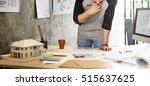 design studio architect... | Shutterstock . vector #515637625