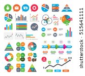 business charts. growth graph.... | Shutterstock .eps vector #515641111