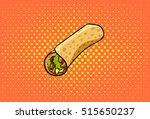roll vector  chicken roll  fast ... | Shutterstock .eps vector #515650237