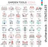 vector garden tools ultra... | Shutterstock .eps vector #515651635