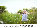 cheerful little girl in a...   Shutterstock . vector #515655937