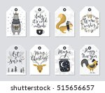 christmas tags set  hand drawn... | Shutterstock .eps vector #515656657