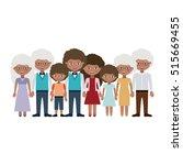 grandparents parents and kids... | Shutterstock .eps vector #515669455