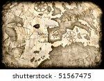 Mappa Antica Rovinata   Ancien...