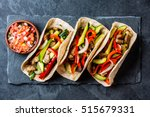 mexican pork tacos with... | Shutterstock . vector #515679331