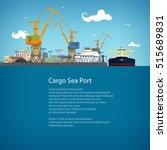 unloading oil from the tanker...   Shutterstock .eps vector #515689831