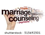 marriage counseling word cloud... | Shutterstock . vector #515692501