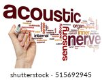 Small photo of Acoustic nerve word cloud concept