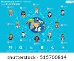 business brainstorming for... | Shutterstock .eps vector #515700814