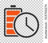 battery time eps vector... | Shutterstock .eps vector #515703274